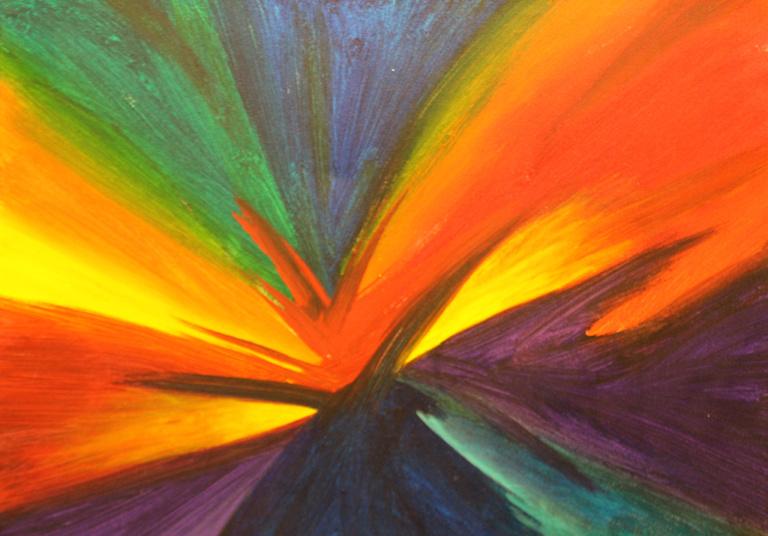 Dick Wills Fine Art - original colorful abstract art - therapeutic art- inspirational art -Celebrate Colors -