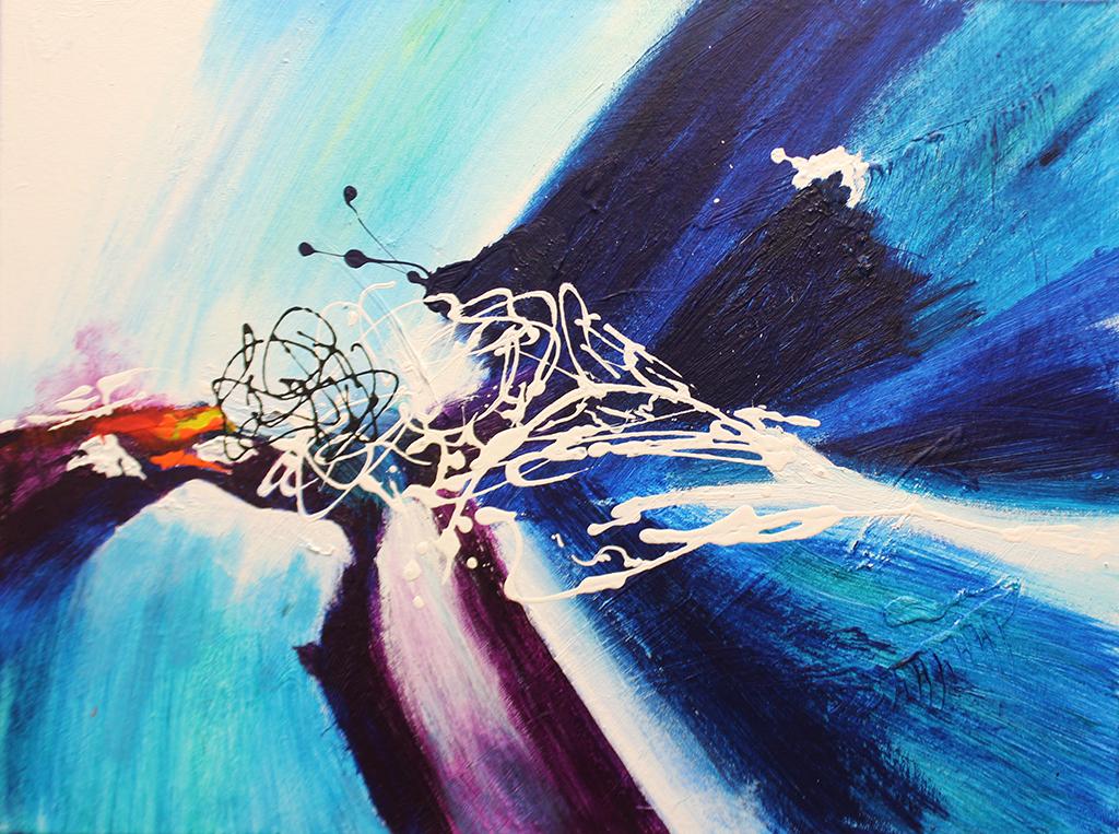 "Dick Wills Fine Art - original colorful abstract art - therapeutic art- inspirational art -Celebrate Colors - EC7 18"" X 24"" $120"