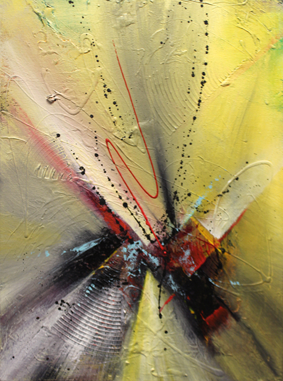 "Dick Wills Fine Art - original colorful abstract art - therapeutic art- inspirational art -Celebrate Colors - EC1 18"" X 24"" $120"