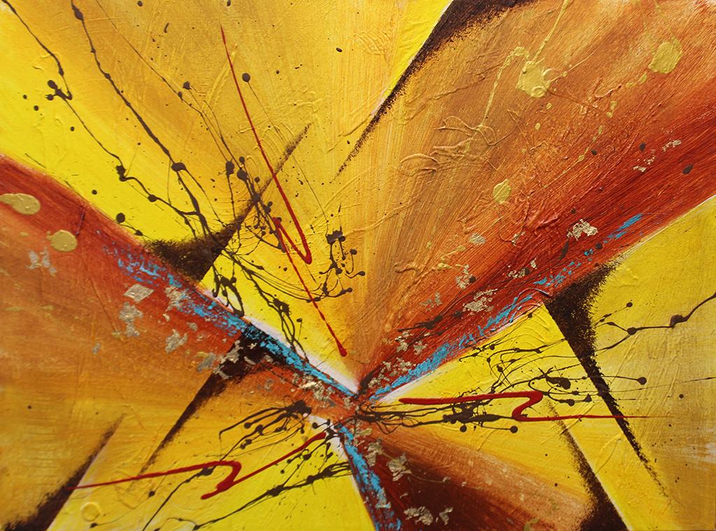 "Dick Wills Fine Art - original colorful abstract art - therapeutic art- inspirational art -Celebrate Colors - EC14 18"" X 24"" $120"
