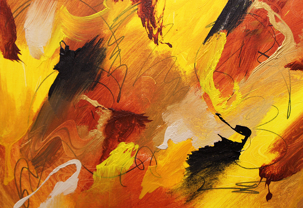 "Dick Wills Fine Art - original colorful abstract art - therapeutic art- inspirational art -Celebrate Colors - P 11 18""x 24"" $120"